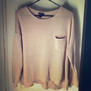 H&M light pink sweater.
